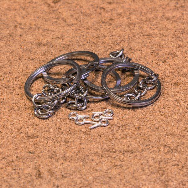 5 anneaux de porte-clefs avec piton pour vos impressions 3D