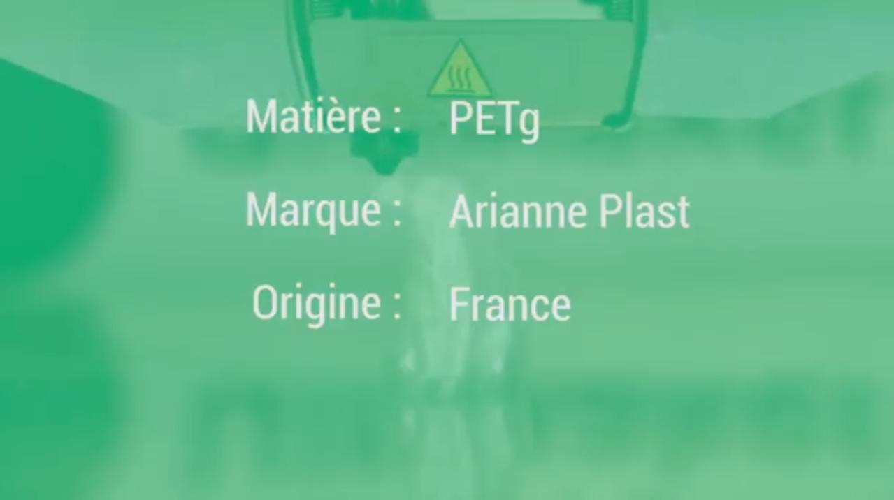 Présentation du Filament PLA Liège d'AriannePlast