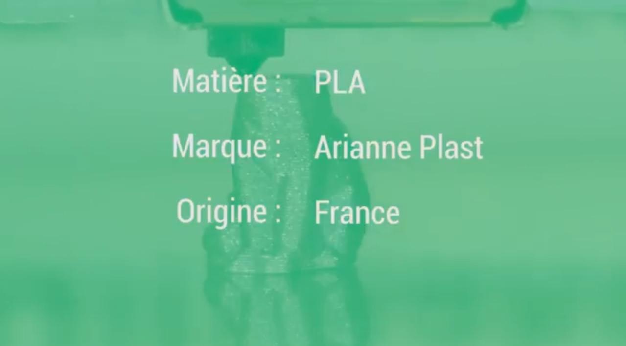 Présentation du Filament PLA Métallisé d'AriannePlast