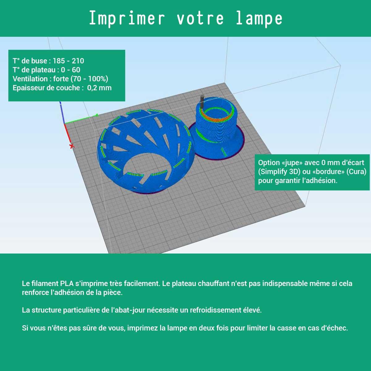 on vous explique comment imprimer en 3D votre lampe avec du filament PLA