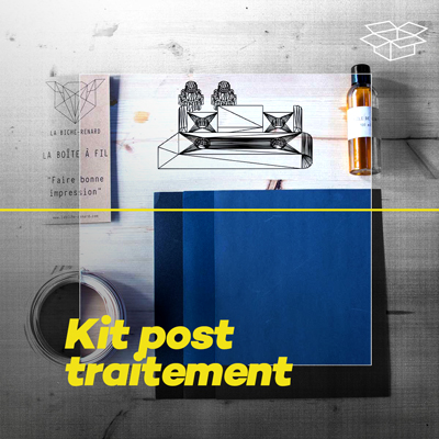 imprimez avec du filament bois et faites le post-traitement avec ce kit