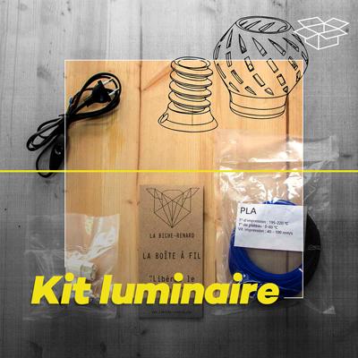 fabriquez votre lampe avec votre imprimante 3D dans ce kit