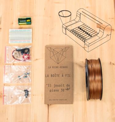 fabriquez votre piano électronique avec votre imprimante 3D.