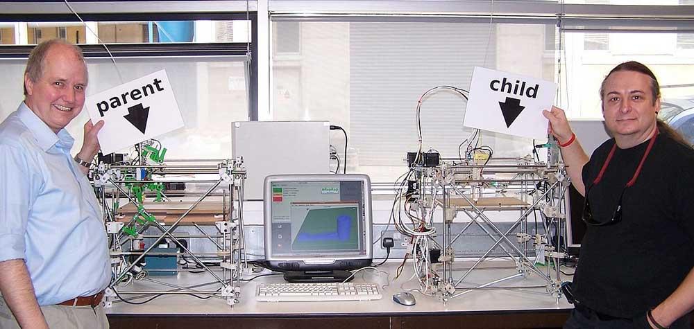 web - Adrian Bowyer et la première imprimante 3D autoréplicante, la reprap