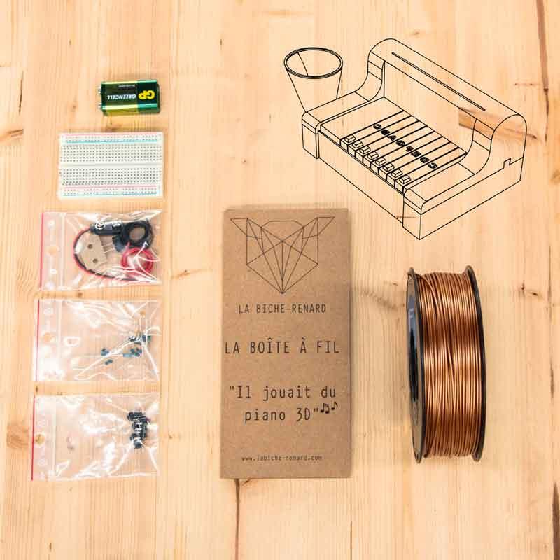 kit la boite a fil électronique. Fabriquer un piano électronique avec votre imprimante 3D.